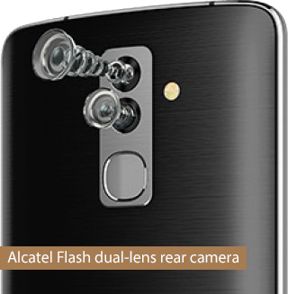Alcatel Flash dual-lens rear camera