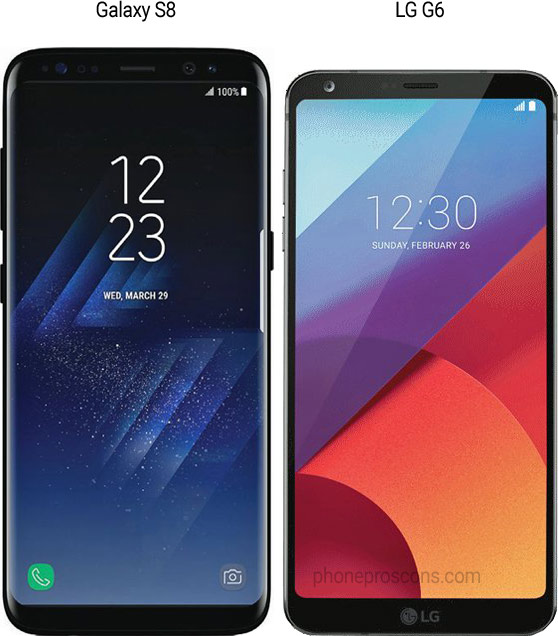 Galaxy S8 vs LG G6 side by side