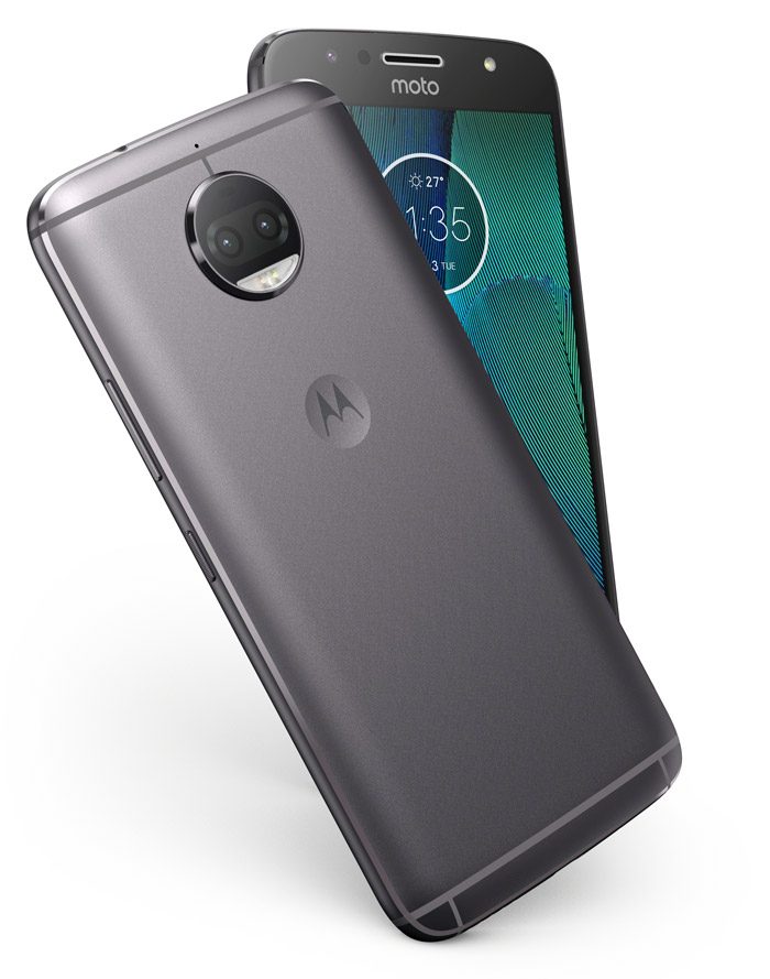 Moto G5S Plus smartphone, rear and front
