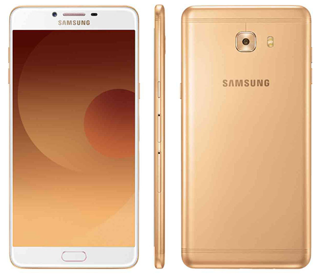 Samsung Galaxy C9 Pro in gold